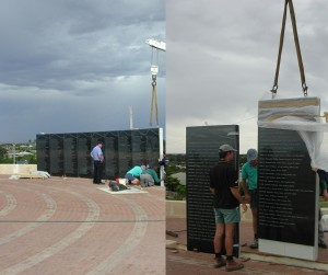 Wall of Remembrance installation